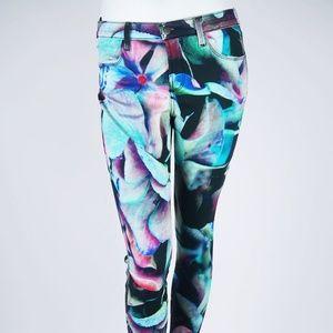 "J BRAND ""Hydra"" Floral Skinny Jeans Pants 28 4 6"